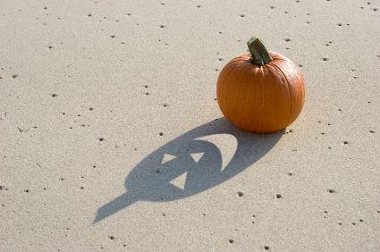 Pumpkin at the beach..........
