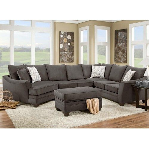 American Furniture Living Room Sectionals Tv Chairs 3810 Sectional Sofa That Seats 5 With Left Side Cuddler