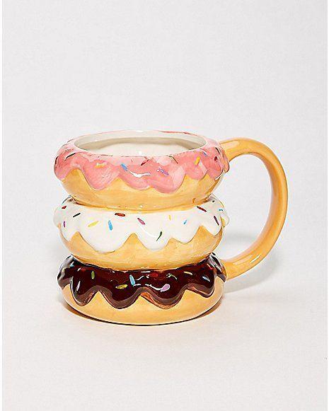 3 Donut Molded Coffee Mug - 16 oz. - Spencer's #coolmugs