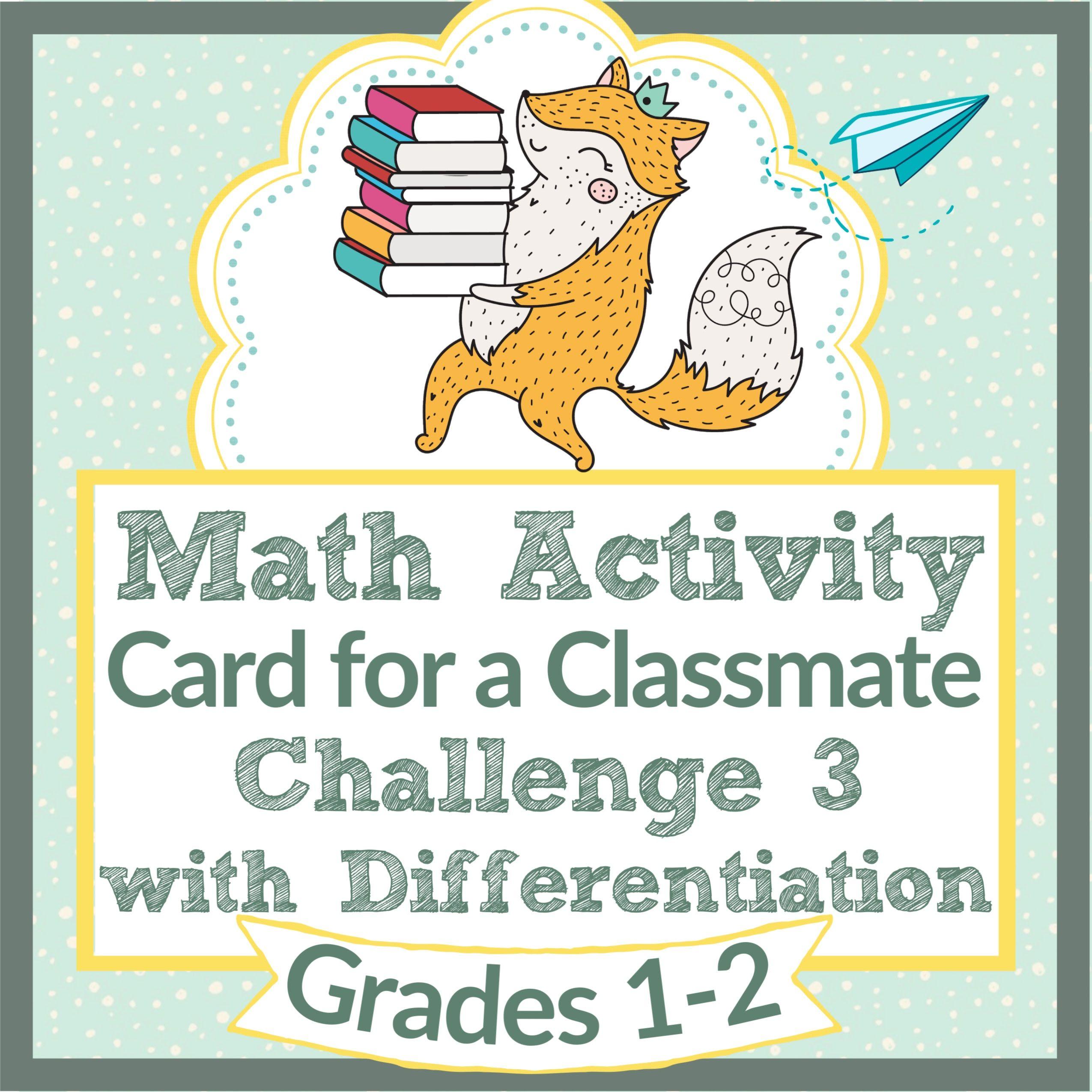 Back To School Math Activity Amp Craft Independent Work