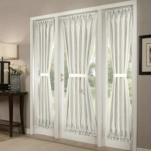 Ordinaire Fitted Door Curtain: If Your Grandmotheru0027s Flowing And Billowing Curtains  And Valance Arenu0027t Your Idea Of Modern Window Fashions, Try This Modern, ...