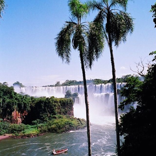 2 years ago I was in paradise palm trees and waterfalls Iguassu Falls (Argentinean side)