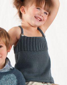 Modèles & patrons tricot gratuits   Debardeur