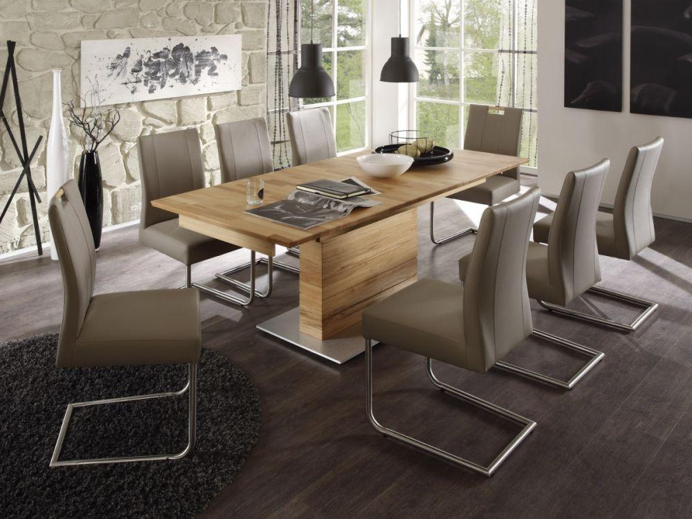 akon massivholz esstisch s ule a 150x90 cm kernbuche ge lt rechteckig esszimmer interior. Black Bedroom Furniture Sets. Home Design Ideas