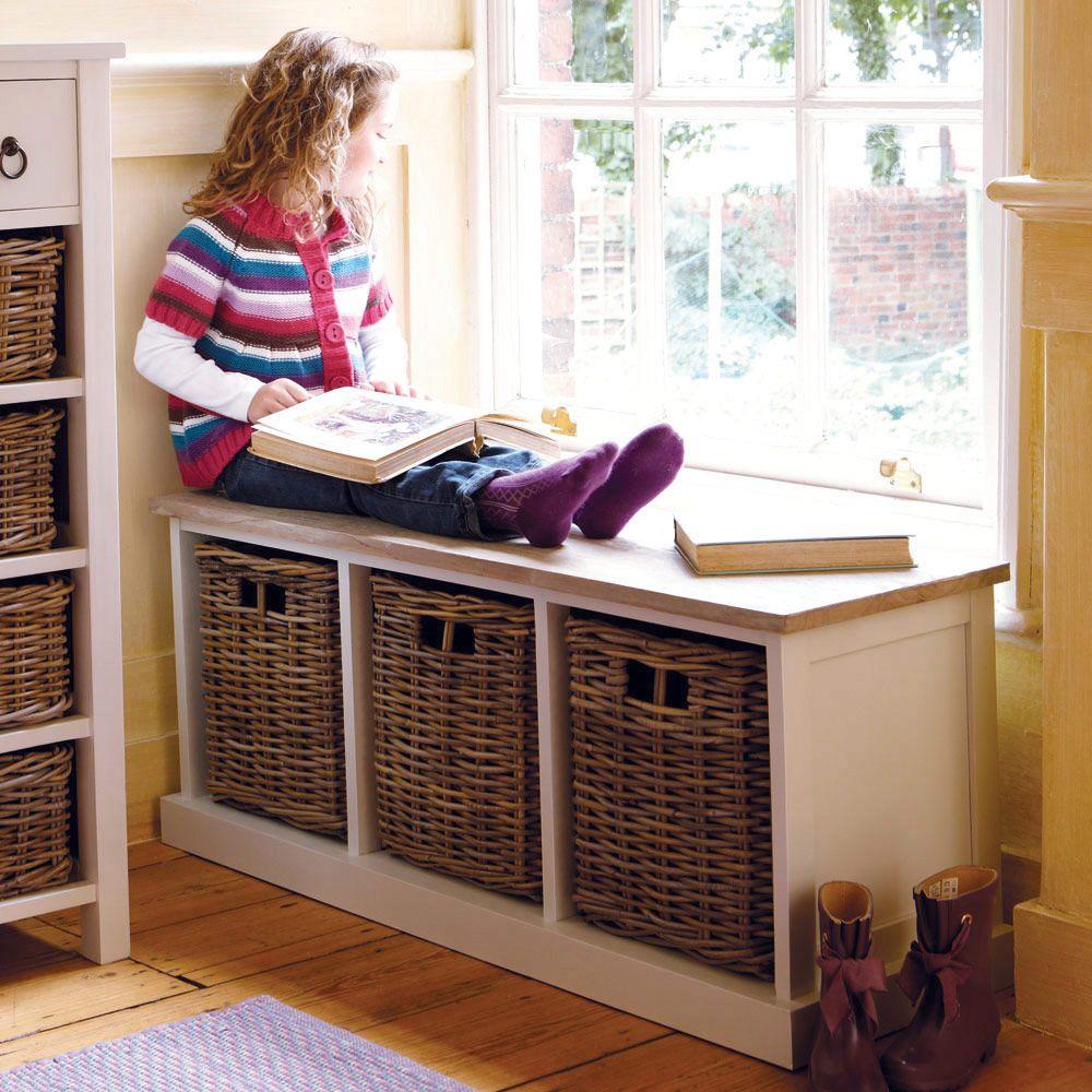 Best Hallway Storage Bench Design