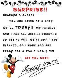 Surprise Going To Disney World Letter Google Search Disney - Disney surprise letter template