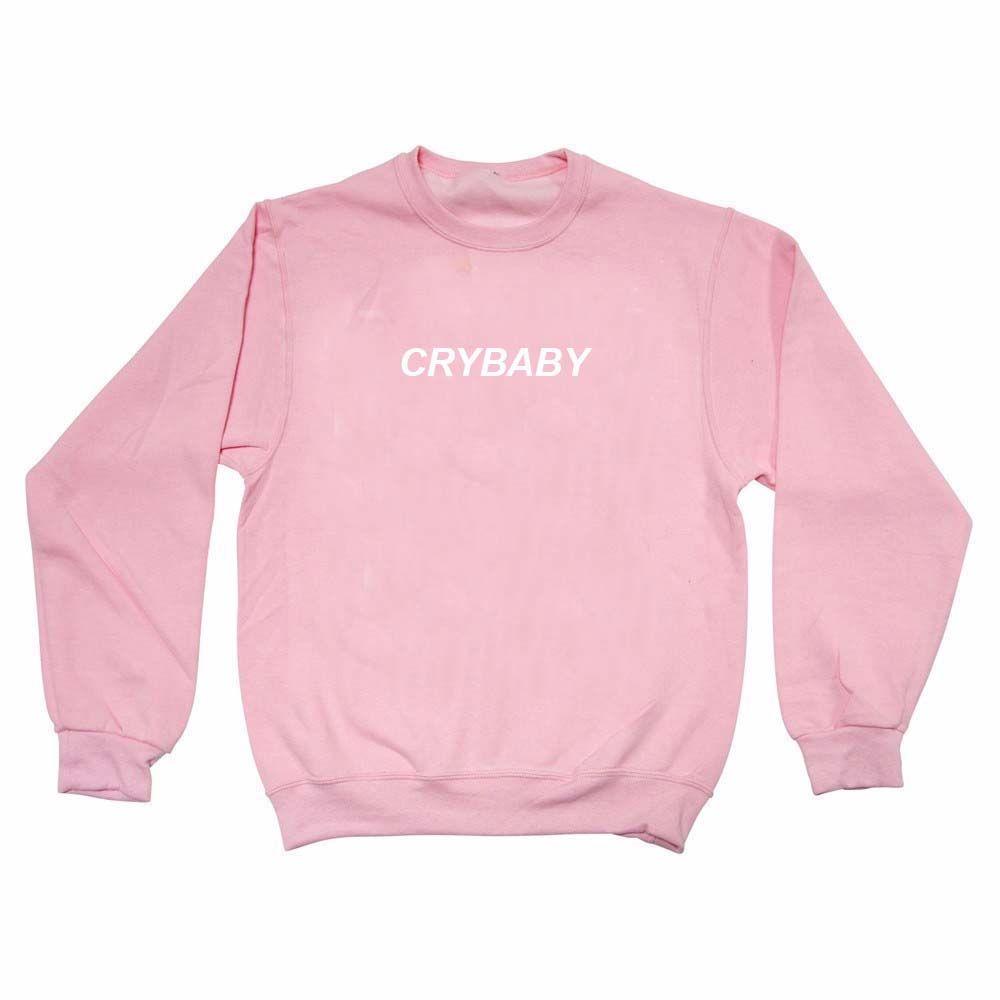 Crybaby font light pink color Unisex Sweatshirts   Light pink ...