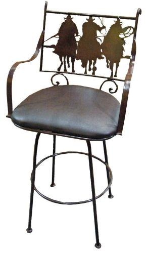 Tres Amigos Rustic Iron Bar Stool