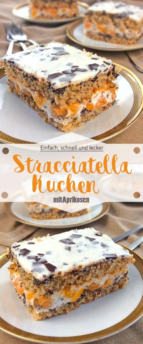 Stracciatella Kuchen mit Aprikosen   – Süßes Gebäck / Sweet Treats