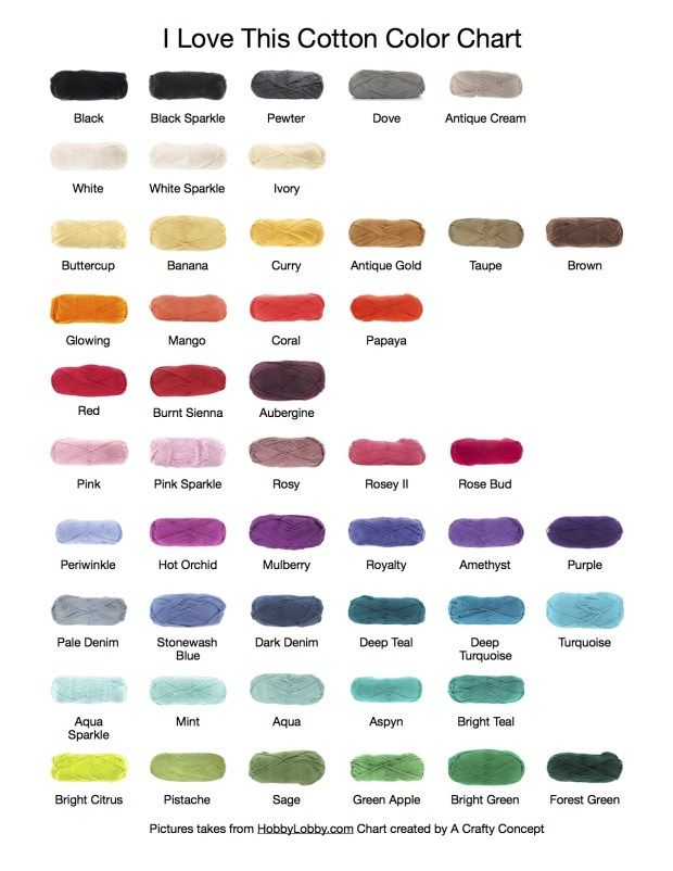 I Love This Cotton Color Chart Color Combinations Pinterest