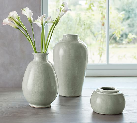Celadon Vase Small Ceramic Vase Barn And Living Rooms