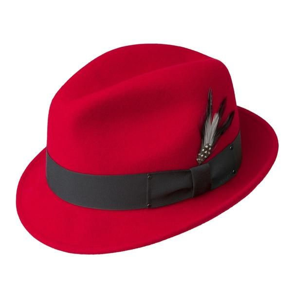 c154ca8e227 Tino Wool Felt Fedora Hat Red - New Edition Fashion