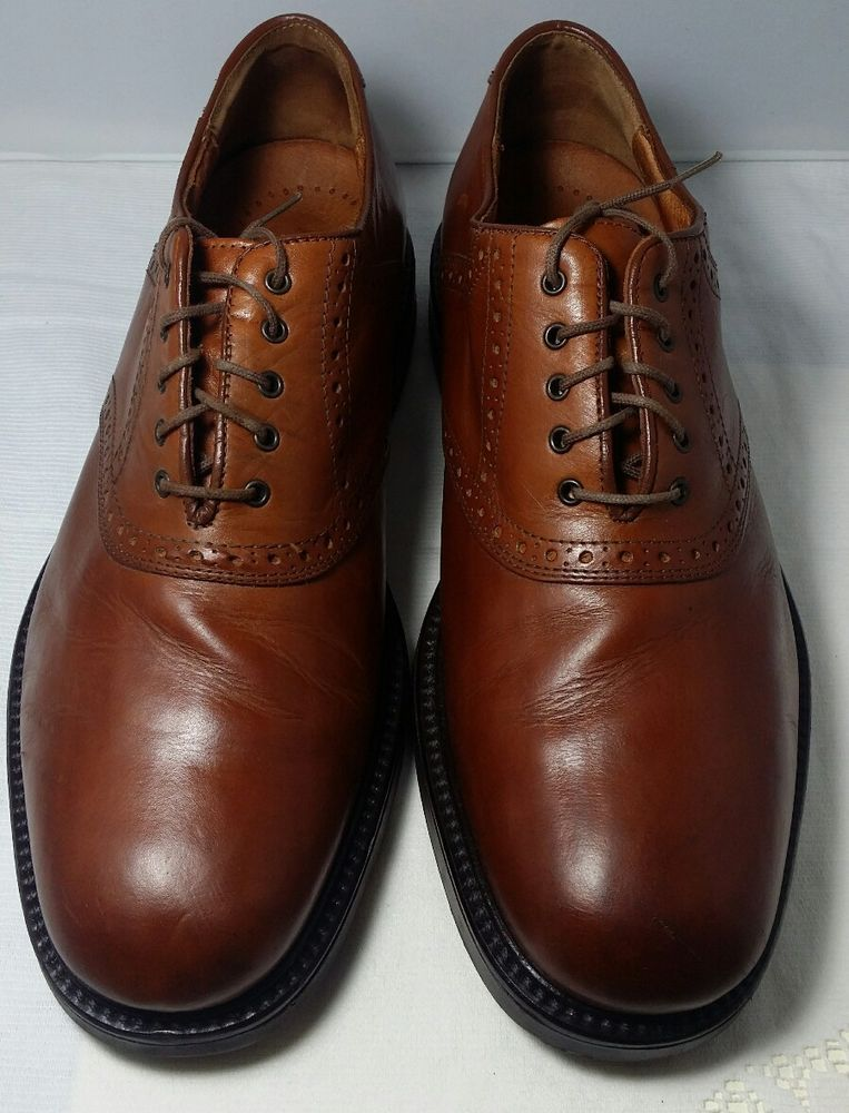 Johnston & Murphy Mens Brown Leather Oxfords Shoe Size 11.5 M