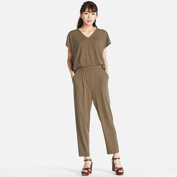WOMEN JERSEY SHORT-SLEEVE JUMPSUIT