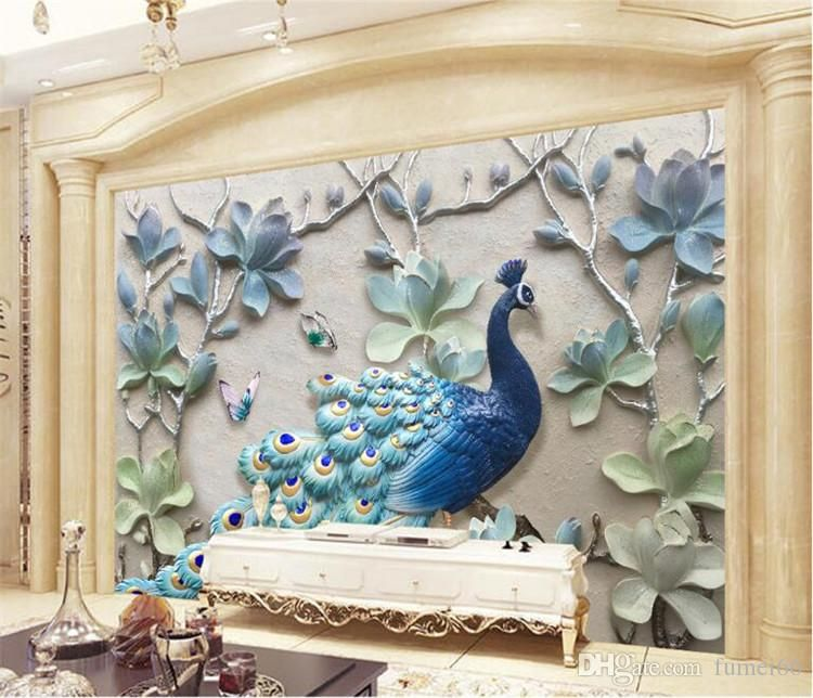 Wallpapers Painting Supplies & Wall Treatments Cooperative 3d Stereo White Mosaic Wall Mural Chinese Photo Wallpaper Murals Wall Art Painting Papel De Parede Wall Paper Customize Easy To Lubricate