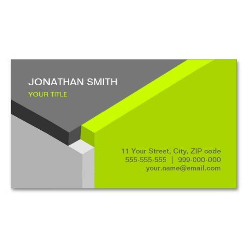 3d Cube Design Lime Grey Business Card Zazzle Com 3d Business Card Architecture Business Cards Printing Business Cards