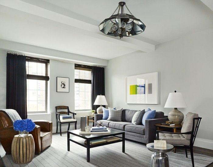 Farbideen Wohnzimmer Grau für Stil, Stabilität und Harmonie - wohnzimmer ideen grau