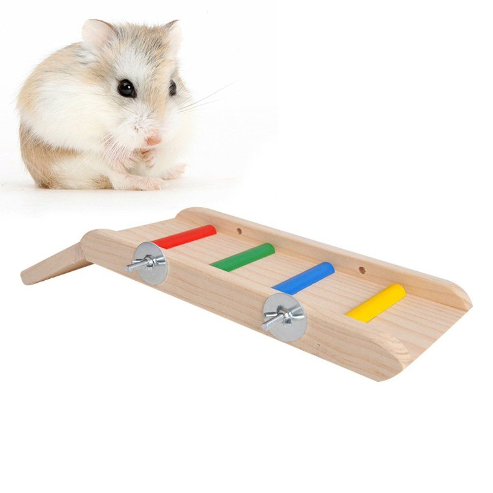 Pandada Hamster Wooden Slide Small Animals Climbing Ladder Molar Wooden Pet Toys Make Sure To Take A Look At This Amazing It With Images Small Pets Pet Toys Rabbit Toys