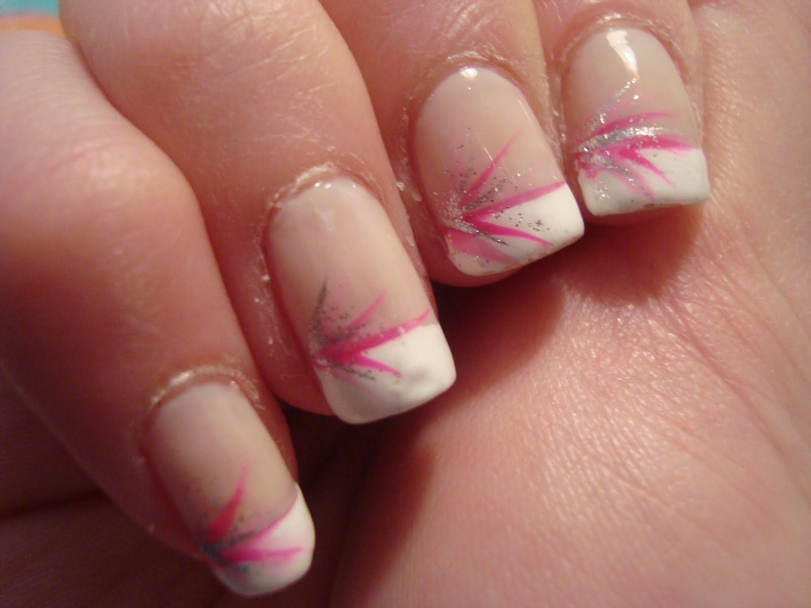 Colored french nail design - French Tip Nails Designs Cocoas Birthday Treath French Tip Nails Nail Designs Inspiration