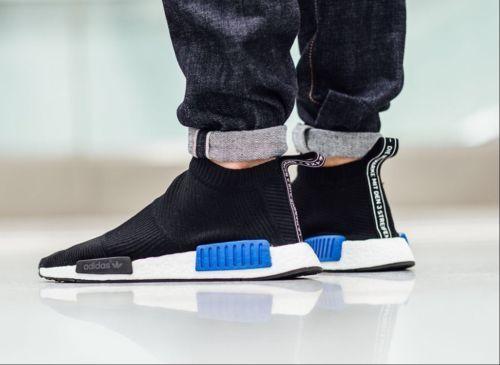 2eb58b905 Adidas NMD Boost CS1 PK City Sock Primeknit Rare Black Blue Japan Ultra  Comfort