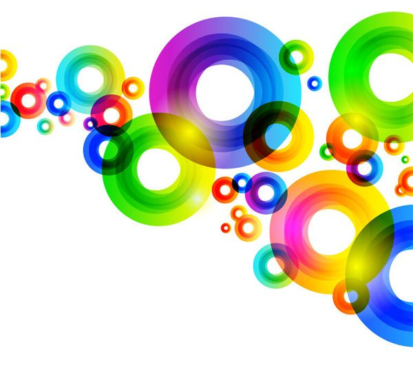 Colorful Bold Circles Abstract Background Dawnbrushes Graphic Design Art Vector Free Abstract Backgrounds