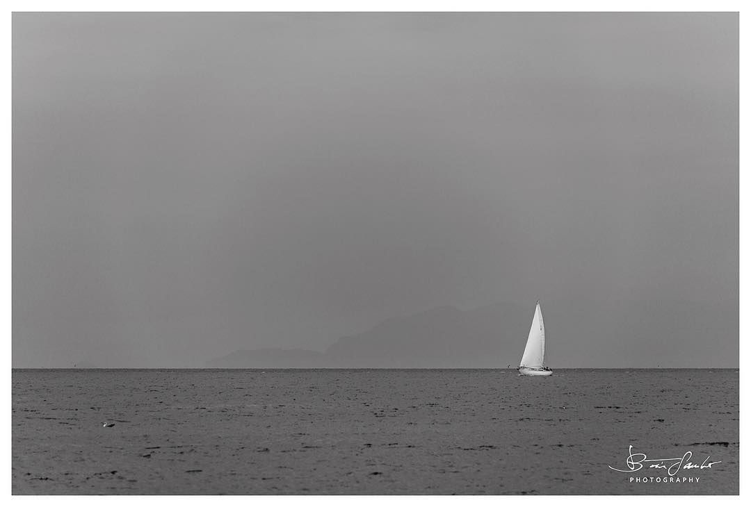 #alone #boat #in #the #sea - #beautiful #amazing #landscape #nature #water #main_vision #blackandwhite #vintage