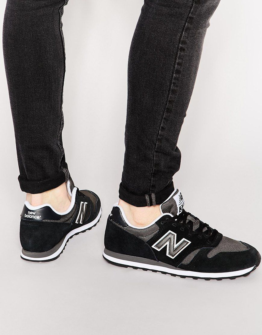 mens new balance black white 373 trainers