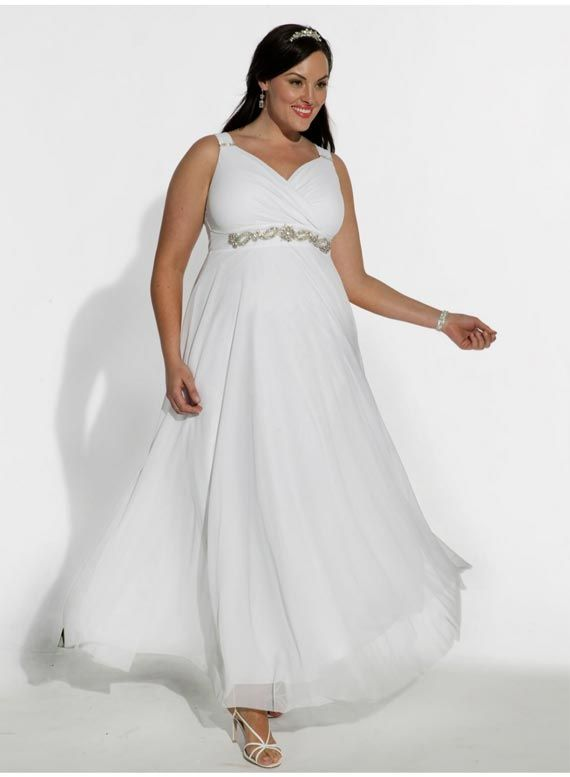 Double Straps Elegance Plus Size Dresses Wedding in Modern Style by ...