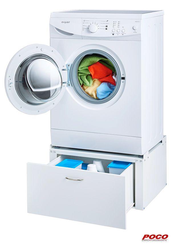 Der Waschmaschinenunterschrank Besteht Aus Weiss Lackiertem Metall Und Hat Einen Kunststoffgriff In Der Schublade Konnen Sie Ihr Wa Wasche Schrank Unterschrank