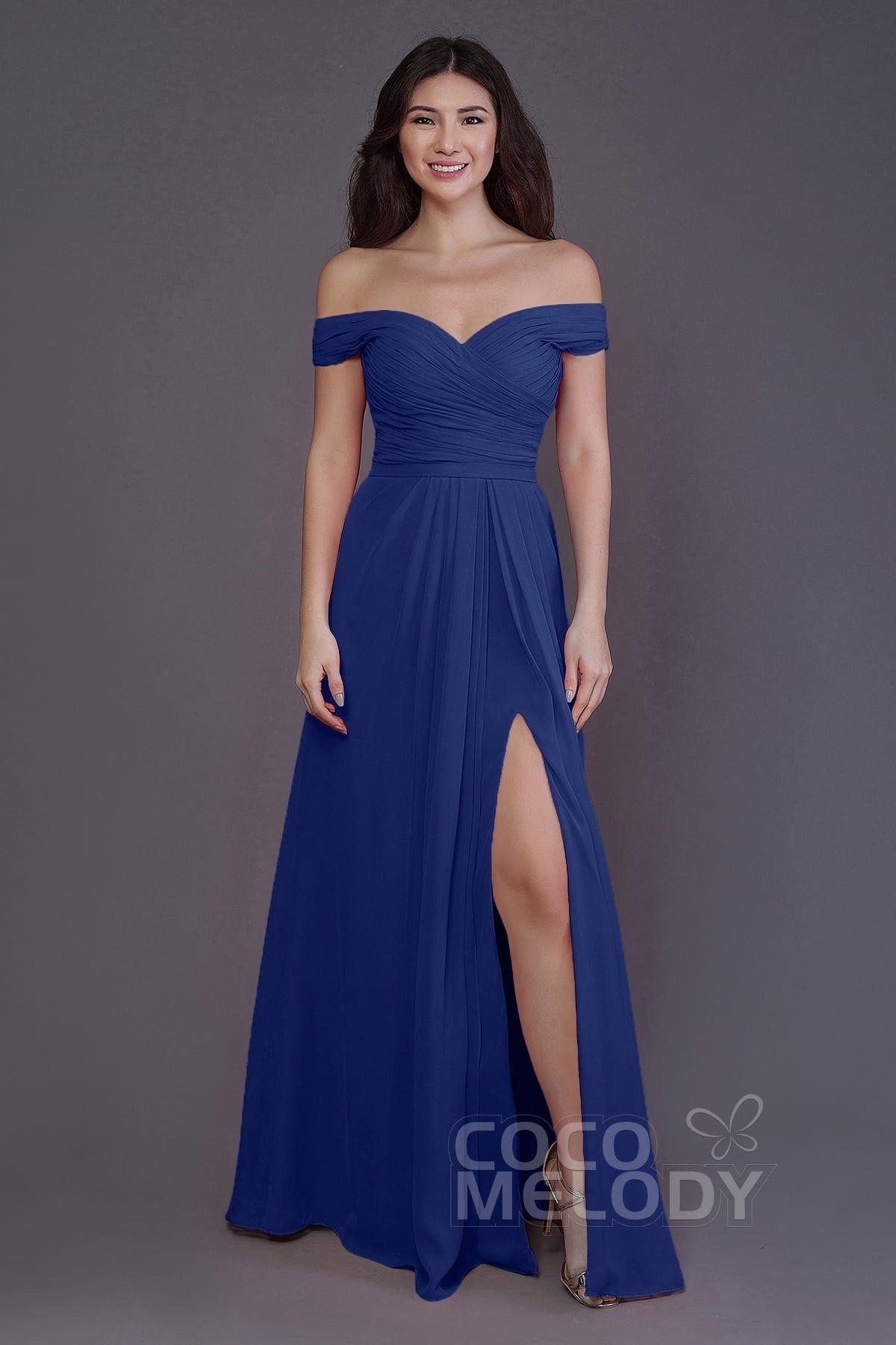 Sheathcolumn floor length chiffon bridesmaid dress pr