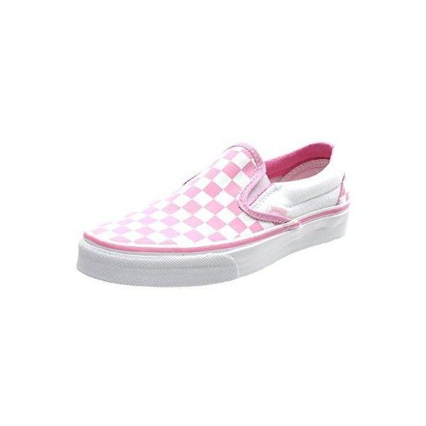 cd8bf835209 Vans Classic Slip On (Checkerboard) Prism Pink True White Shoe EYEARC.