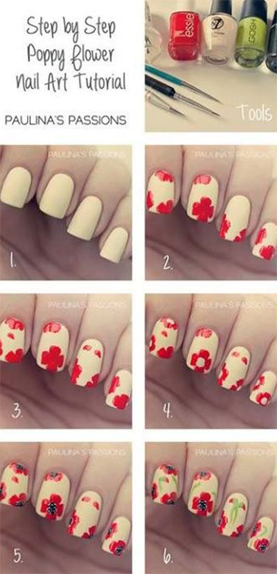 Nail Art Tutorials Step By Step For Beginners Learners 2013 2014 3