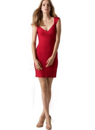 51dd0a29bb3 Red Sexy Dress - Bqueen Open Back Bandage Dress  99