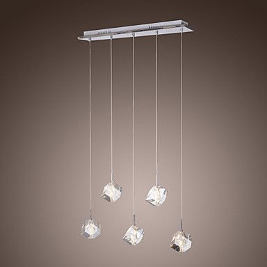 Lampara Chandelier De Cristal Con 5 Bombillas Brilon Usd