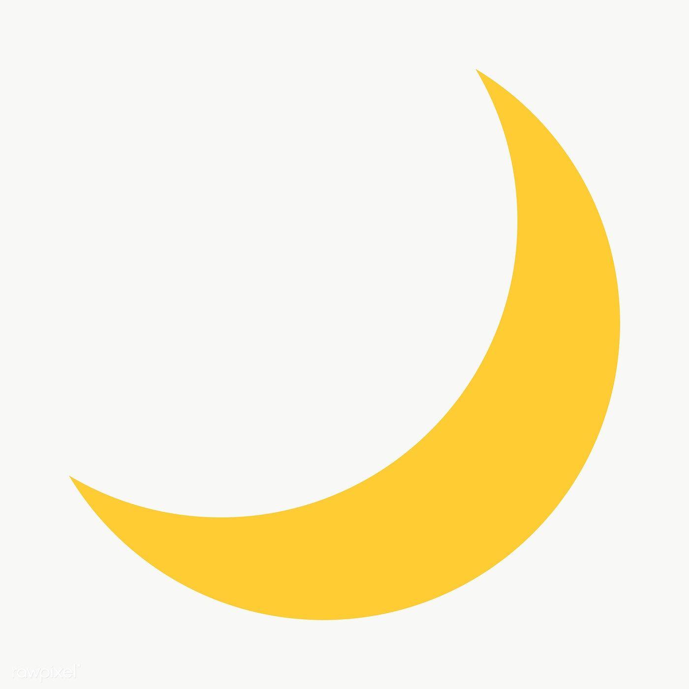 Yellow Crescent Geometric Shape Transparent Png Free Image By Rawpixel Com Ningzk V Sekolah