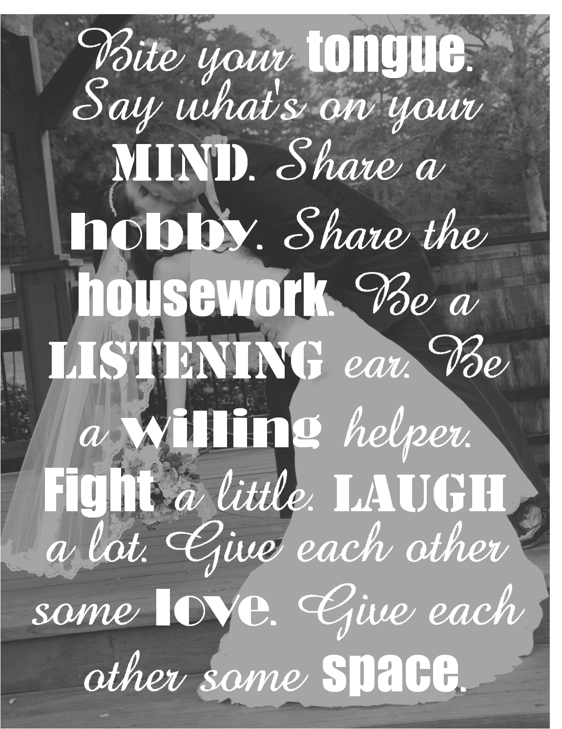 Top 10 Advice for Newlyweds  Wise Words and Advice