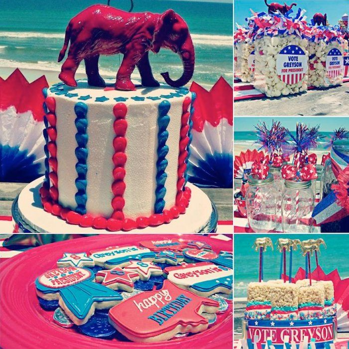 For President Birthday Party Patriotic Planning Ideas Cake Supplies
