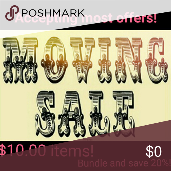 Moving sale!  Make an offer everything MUST GO! Items $10.00, may accept less make an offer!  Bundle 2+ and save 20%! Other