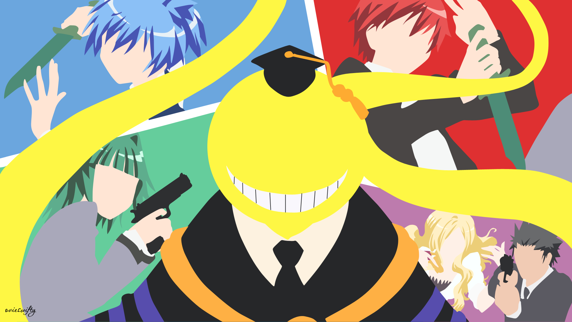 Assassination Classroom On Minimalistic Animoo Deviantart Assassination Classroom Classroom Minimalist Anime Wallpaper