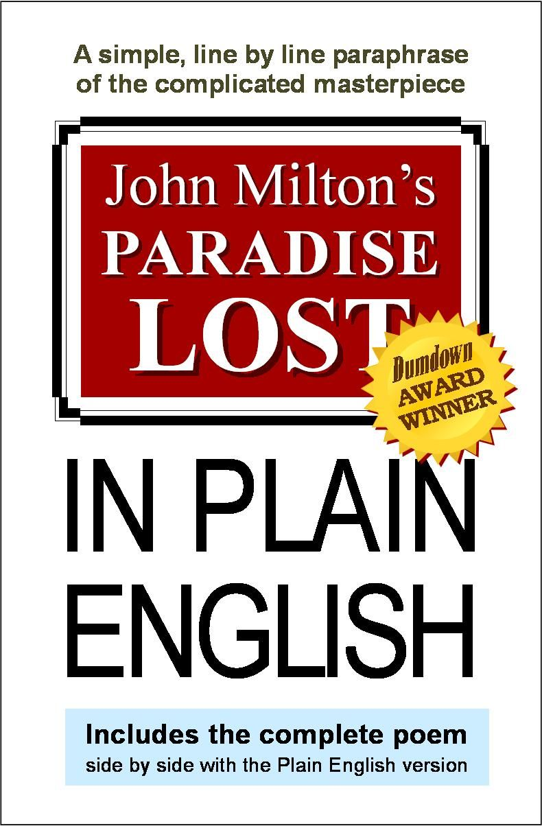 1 Paradise Lost In Plain English Milton John Paraphrase The First Sentence Of A Tale Two Cities