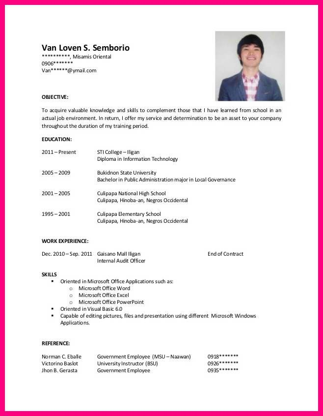 resume sample for hrm ojt http ttatic images tbn - resume objectives for college students