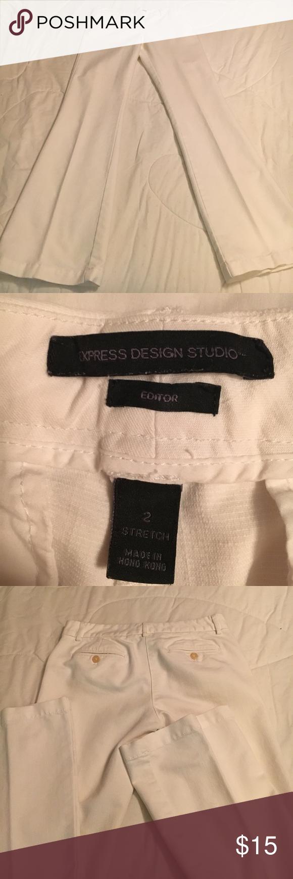 "Express Design Studio Pants Approx 31"" Inseam, inside Button missing but Pants fasten fine Express Pants"