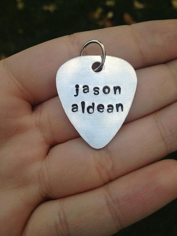 CUSTOM Guitar Pick KeychainStainless Steel by CountryWind on Etsy, $8.00    With... hmmm..... Florida Georgia Line on it! <3 them!!!!