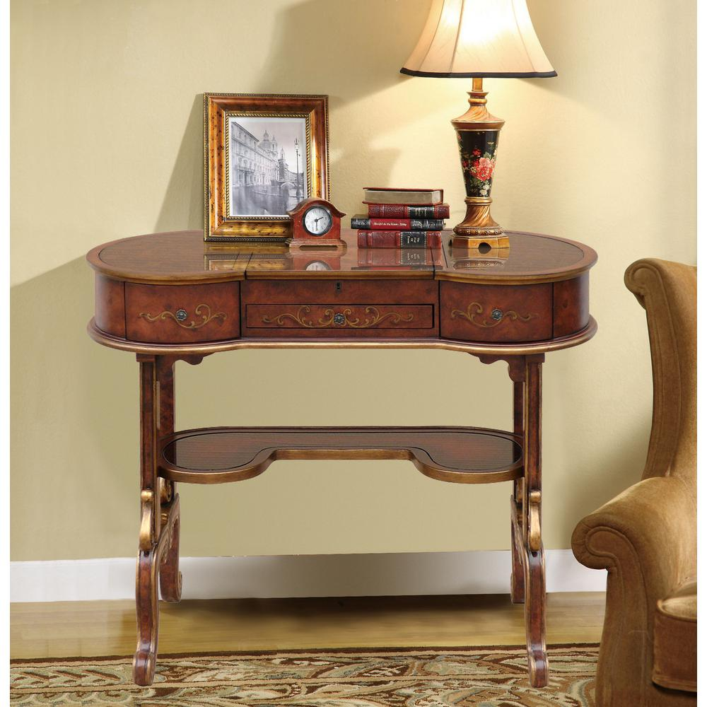 Home Accents Alliance Murano Gl Art Vanity Table Brown