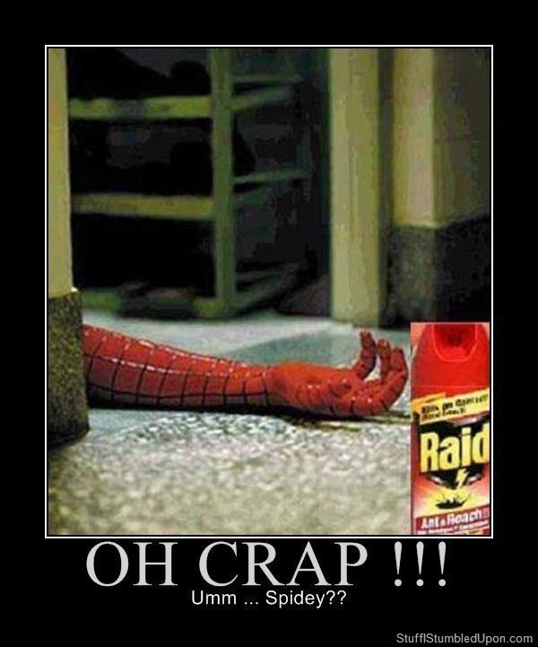 73e87975a28b847decaf277a9efdebe0 demotivational posters meme spiderman meme raid spiderman death dead