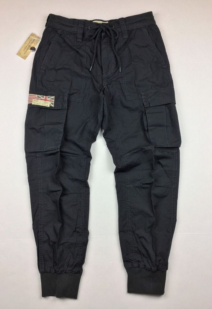 Denim   Supply Ralph Lauren Men US American Flag Cargo Jogger Pants Black   DenimSupplyRalphLauren  Cargo 2efb872b2495b