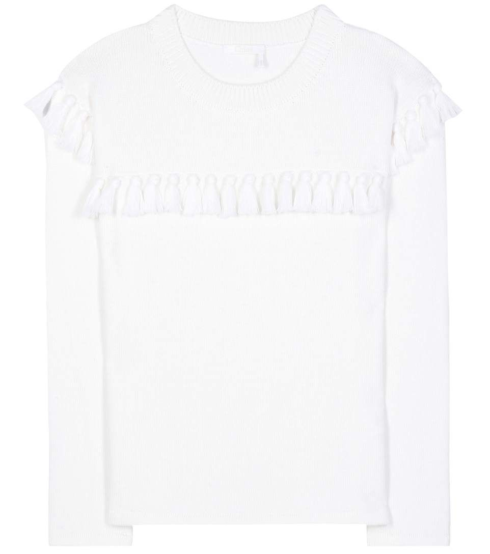 CHLOÉ Tasselled Cotton And Wool Sweater. #chloé #cloth #current ...