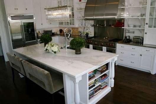 kitchen design white cabinets stainless steel and marble | kitchens ...