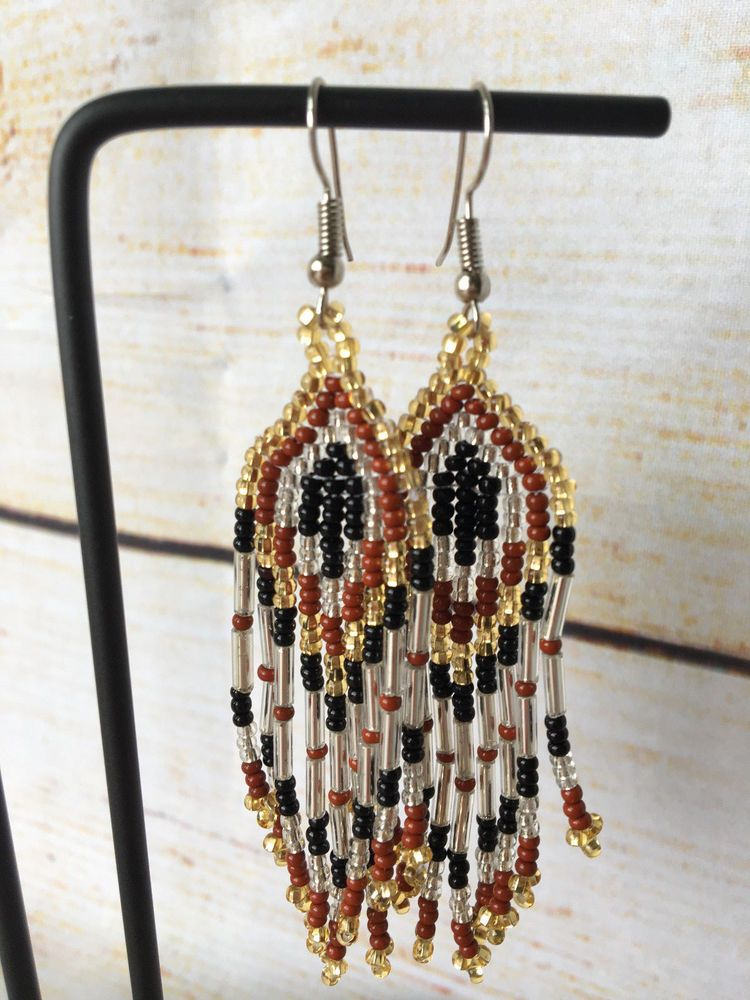 8689e33b5a4300 Mexican Bead Earrings Huichol Womens Jewelry Handmade Hippie Bohemian  Tribal #Handmade
