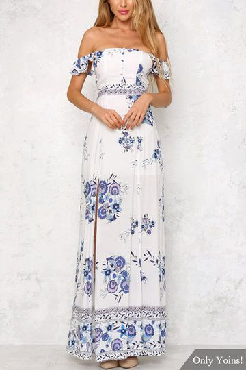 24b457b3a5f Maxi dress is an essential staple in our wardrobe. You ll mostly love its  sultry look thanks to random floral print